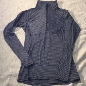Columbia Omniwick Half-Zip Striped Layering Top